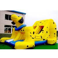 Wholesale Yellow Spotty Dog PVC Slide Animal Theme Dog Shape Inflatable Slip N Slide from china suppliers