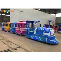 Buy cheap Kids Attraction Colorful Trackless Train Ride For Sale Theme Park Electric Train from wholesalers