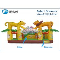 Wholesale birthday party commercial rental party games safari bouncer inflatable trampoline from china suppliers