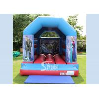 China Eco Friendly Child Big Frozen Jumping Castle With Roof For Parties on sale