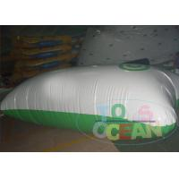 Wholesale White And Green Inflatable Water Game Pillow Water Launch Blob from china suppliers