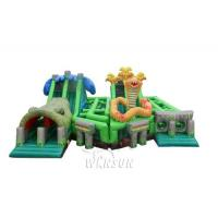 The Lost Jungle inflatable obstacle course WSP-295/Theme combination of forest animal exploration