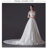 Wholesale Exquisite Off shoulder Strapless Wedding Gowns Hollow court train wedding dress from china suppliers