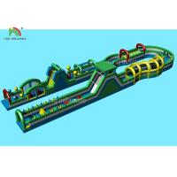 Wholesale 80 * 3 M PVC Tarpaulin Inflatable Sports Games Giant Obstacle Course from china suppliers