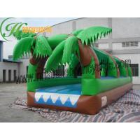 China Commercial Grade 0.55mm Outdoor Inflatable Water Slip And Slide For Playing Center on sale