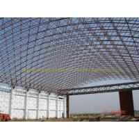 Inexpensive long span steel airplane hangar with arch roof truss
