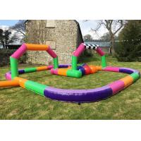 Quality Inflatable Toy Outdoor Cars Race Track , Go Kart Race Track For Sport Game for sale
