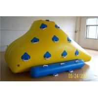 China Funny Floating Inflatable Water Games , Inflatable Rock Climbing Wall For Water Leak Proof on sale