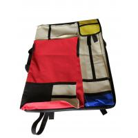 Buy cheap 4K hand-held double-sided drawer bag stitching red and yellow blue multi from wholesalers