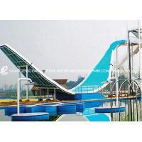 Swing Wave Slide Fiberglass Water Slides Amusement Park Equipment 11m Height for Aqua Park