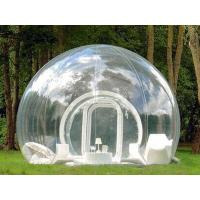 China Transparent Outdoor Inflatable Bubble Tent for Sight Seeing on sale