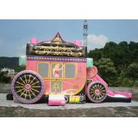 Quality Kids Party Princess Carriage Bounce House With Slide , Made Of 1st Class PVC Tarpaulin for sale