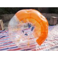 Buy cheap TPU inflatable bubble suits for soccer,inflatable belly bump ball,human bumper from wholesalers
