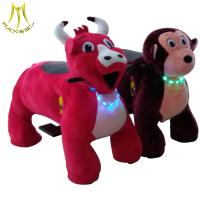 Wholesale Hansel 2018 ride for kids plush stuffed electric battery operated ride animals on wheels from china suppliers