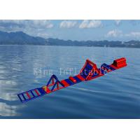 Red Color 0.9 mm PVC Tarpaulin Inflatable Sport Game Water Obstacle Course