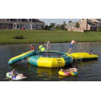 Wholesale Inflatable Water Trampoline Combo For Lake, Water Trampoline With Slide from china suppliers