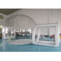 Wholesale 3m, 4m, 5m Outdoor Transparent Camping Inflatable Clear Bubble Tent With Airtight Tunnel from china suppliers