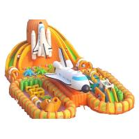 Wholesale Orange Space Shuttle Inflatable Obstacle Course Sports Games 30m Long Interactive from china suppliers