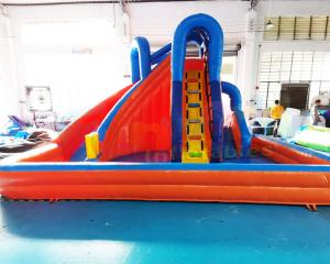 Wholesale Bouncer Pool House Kids Inflatable Water Slide Quadruple Stitching from china suppliers