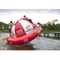 China Diameter 4m Customized Red Inflatable Water Sport For Amusement Park on sale