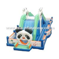 China Cute Panda Inflatable Fairground, Inflatable Trampoline Park Games For Kids on sale