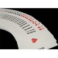 Wholesale Linen Finish Casino Playing Cards Black Core Paper Material with UV Sign from china suppliers