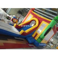China 7 X 4M Amusement Park Kids Jumping Castle Inflatable With Pool Slide on sale
