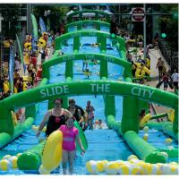 Wholesale Customized Commercial Extra long slide PVC inflatable water slide for adult from china suppliers