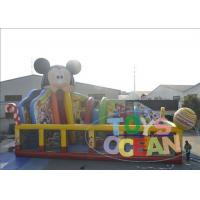 Wholesale Colored Bouncy Castle Playground For Kids / Mickey Mouse Inflatable Bounce House from china suppliers