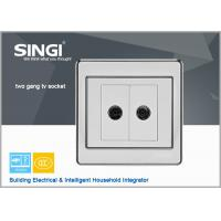 Quality 2 gang TV socket Hot sell one gang wall switch and socket for Brazil market for sale