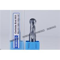 Quality HRC55 TiSiN Coating Ball Nose End Mill High Precision 0.5 UM grain size , AOL 100 mm for sale