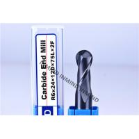 Wholesale High Class 4 Flutes Square End Mill , Tungsten Carbide Solid End Mill from china suppliers