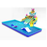 China Seafaring Commercial Inflatable Water Slides Customized With Frame Pool on sale