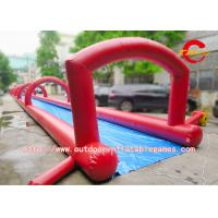 Customized Popular City Largest Water Slide Bounce House Rental In Red