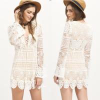 Wholesale Bohemian White Dress Sexy Beach Tunic Women Casual from china suppliers