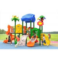 China Carton House Theme Plastic Play Structure With Slide Small Children Baby Kids on sale