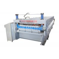Wholesale Aluminum Roof Sheet Double Layer Roll Forming Machine , IBR Step Tile Roll Forming Machine from china suppliers