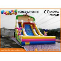 China Clown Large Size Commercial Bounce House With Slide / Inflatable Kids Slide For Party on sale