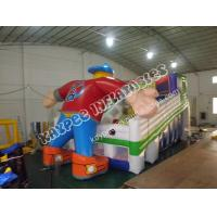 Wholesale Inflatable hockey man slide, ,Inflatable sport slide from china suppliers
