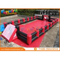Wholesale Fireproof Inflatable Soap Football Field With Digital Paiting EN71 from china suppliers