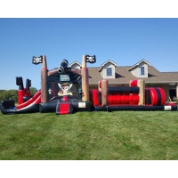 Wholesale Backyard Pirate Ship Bounce House Inflatables Obstacle Course from china suppliers