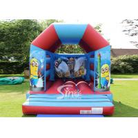 China Outdoor Kids Inflatable Bouncing Castle MinionBounce House , 0.55mm PVC Tarpaulin on sale