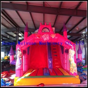 China inflatable kids playground plastic slides,Silk-screen printing Inflatable Slide, kids inflatable toys on sale