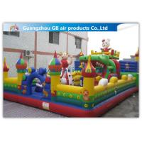 Wholesale Big PVC Inflatable Fun City With Dolls , Cartoon Inflatable Play Park For Kids from china suppliers