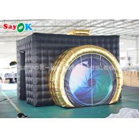 Wholesale Durable LED Black Inflatable Photo Booth For Party Wedding Double Stitching from china suppliers
