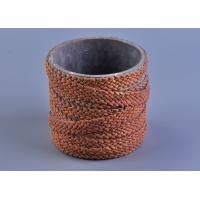 Deco Weave Twine Round Cylinder Concrete Cement Candle Holders
