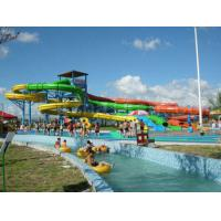 Wholesale OEM Outdoor Water Playground Leisure Play Aqua Park Equipment , Customized Spiral Slide from china suppliers
