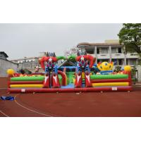 Wholesale Giant Robot Inflatable Fun City / PVC Piggy Fun Colourful Inflatable Mouse Airplane Fun Park from china suppliers