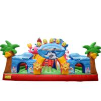 Wholesale PVC Colorful Big Customized Lyons toys inflatable bouncer slide catale for kids from china suppliers