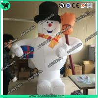 Wholesale 3m Inflatable Snowman With Broom,Inflatable Snow Man Mascot, Snow Man Cartoon from china suppliers